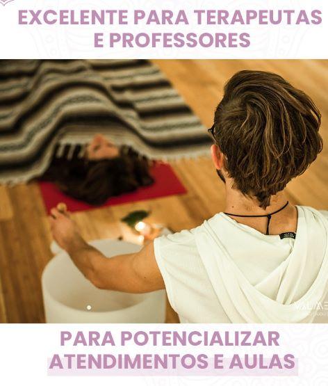 tigela de cristal - excelente para professores e terapeutas